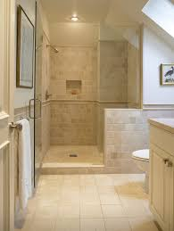 san francisco tumbled travertine tile bathroom traditional with