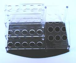 Acrylic Cosmetic Brush Display Stand 1 32 Holes