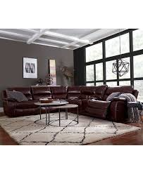 Decoro Leather Sectional Sofa leather furniture macy u0027s