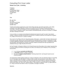 Cover Letter Consulting Consulting Cover Letter Resume Format Sample