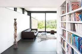 einbauregal für bücher im wohnbereich modern wohnbereich