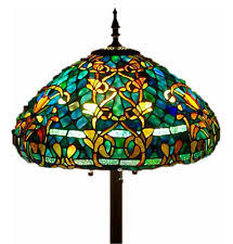 Tiffany Style Glass Torchiere Floor Lamp by Stained Glass Floor Lamps Ebay