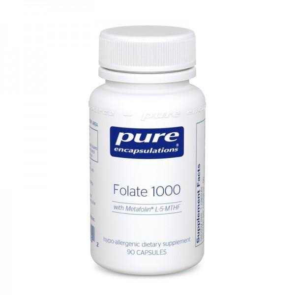 Pure Encapsulations Folate 1000 Dietary Supplement - x90