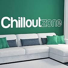 denoda chillout zone wandtattoo weiss 172 x 25 cm wandsticker wanddekoration wohndeko wohnzimmer kinderzimmer schlafzimmer wand aufkleber