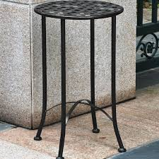International Caravan Mandalay 16 inch Iron Patio Side Table