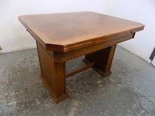 1930sdraw Leafextendingdining Tablesquare Legstablevintage