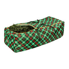 Christmas Tree Storage Tote With Wheels by Honey Can Do Green And Red Plaid Rolling Artificial Tree Storage