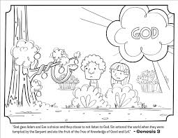 Adam And Eve Serpent Coloring Page