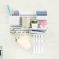 jmsdream creative aufbewahrung diy organisieren rack badezimmer küche regal wand stick weiß