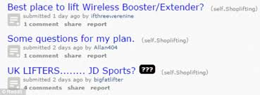 The Reddit forum exclusively for shoplifters