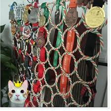 Marathon Medals Show Hanging Ring Souvenirs Pylon Display Stand Medal National Shipping
