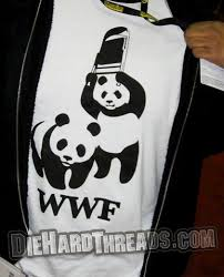 wwf panda bears t shirt pandas chair wrestle t
