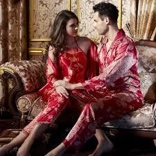 online get cheap red pyjamas women silk aliexpress com alibaba