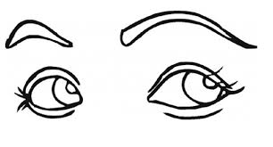 Girl Eyes Print Coloring Pages