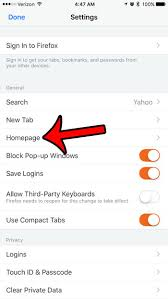How to Set the Home Page in the Firefox iPhone Browser Solve