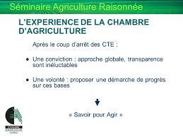 chambre agriculture 34 de l agriculture raisonnee a l agriculture durable ppt
