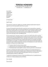 Retail Manager Cover Letter Supervisor Office Sample Resume Companion