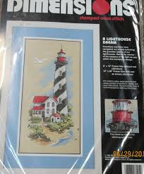 Frosted Pumpkin Stitchery Kit by New Dimensions A Lighthouse Dream Stamped Cross Stitch 3145
