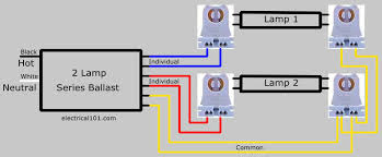 two 2 l series ballast wiring diagram wiring 2 l ballasts