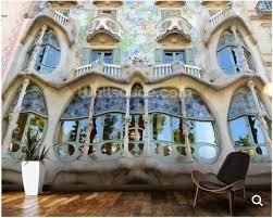 canap casa personnalisé photo papier peint gaudi de casa batllo barcelone