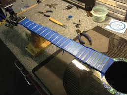When Frets Have Been Worn This Far It Causes Fretted Notes To Play Out Of Tune Is From The String Not Contacted Center Fret Wire