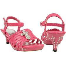 amazon com girls strappy cross rhinestones high heel fuchsia