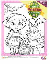 Join Dora And Her Friends For An Easter Adventure With This Fun Activity Pack Includes Coloring Pages Spot The Difference Matching Game