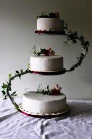 3 Tier S Shaped Cake Stand Black Wedding CakesRustic