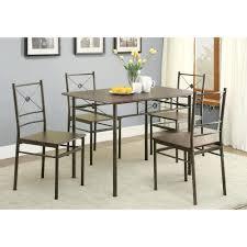 Coaster Company Walnut 5 Piece Dinette Set Dining Table Room Sets ...