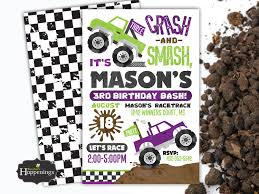 Monster Truck Birthday Invitation Monster Jam Birthday | Etsy Monster Contruck Invitation Invite Pics Of Truck Fresh Birthday Invitations Personalized Invitation Boy By Uprint Etsy Party Ideas At In A Box 50 Off Sale 2nd Svg And Printable Clipart To Make Nice 94 In Design With Frozen Elsa Anna Trucks Food Jam Supplies Monster Truck Birthday Truck Birthday Party Invites Tonys 6th Bday