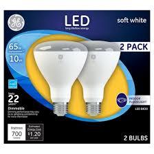 ge led 65 watt br30 light bulb soft white 2pk target