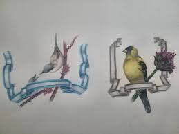 Some Birds And Ribbons Prismacolor Premier