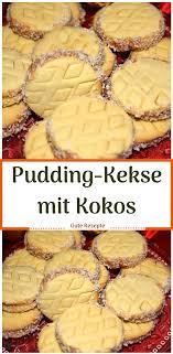 pudding kekse mit kokos kokos kekse kuchen pudding