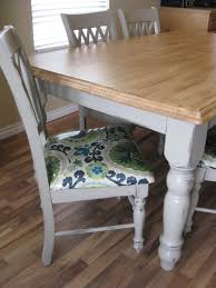 100 Dining Chairs Painted Wood Recovering Dining Chairs Grey Table With Stained Top So