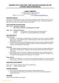 Resume Sample Format For Job All First Time Examples Inspirational Teachers Resu Full Size