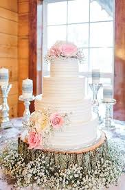 Blush Country Wedding Cake Inspiration