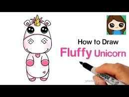How To Draw Fluffy Unicorn Easy