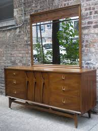 Brasilia Broyhill Premier Dresser by Mid Century Chicago Broyhill Brasilia 9 Drawer Lowboy Dresser W