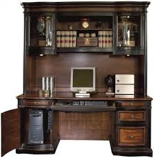 toned grand style home office computer desk with hutchcoaster