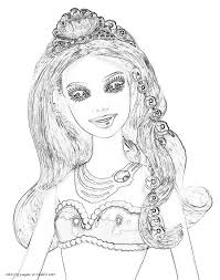 Pearl Princess Barbie Coloring Pages
