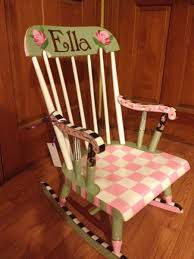 Buy Hand Made Painted Childs Rocking Chair Custom Colors And ...