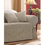 Sure Fit Scroll T Cushion Sofa Slipcover by Amazon Com Sure Fit Scroll T Cushion Sofa Slipcover Champagne