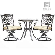 3 Piece Bistro Table Chairs Set, Cast Aluminum Dining Table Patio Glider  Chairs Garden Backyard Outdoor Furniture Alinum Alloy Outdoor Portable Camping Pnic Bbq Folding Table Chair Stool Set Cast Cats002 Rectangular Temper Glass Buy Tableoutdoor Tablealinum Product On Alibacom 235 Square Metal With 2 Black Slat Stack Chairs Table Set From Chairs Carousell Best Choice Products Patio Bistro W Attached Ice Bucket Copper Finish Chelsea Oval Ding Of 7 Details About Largo 5 Piece Us 3544 35 Offoutdoor Foldable Fishing 4 Glenn Teak Wood Extendable And Bk418 420 Cafe And Restaurant Chairrestaurant
