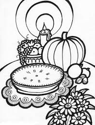 Thanksgiving Coloring Page Meal