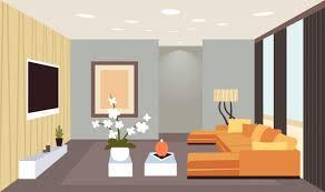 zeitgenössisches wohnzimmer interieur leer keine menschen zu