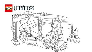 LEGOR Juniors Race Car Competition Coloring Page