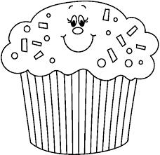 Cute Birthday Cupcake Clipart