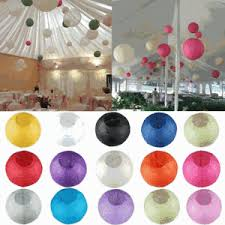 Image Is Loading 2Pc DIY Round Paper Lanterns Lamp Folding Christmas