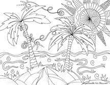 Nature Coloring Pages Beach Summer Page