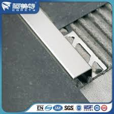 Tile Stair Nosing Trim by China Rohs Gold Silver Color Anodized Aluminium Stair Nosing